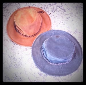2 free people leather hats NEW!!!